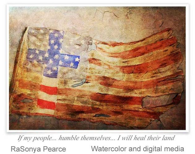 Watercolor and digital manipulation by RaSonya Pearce