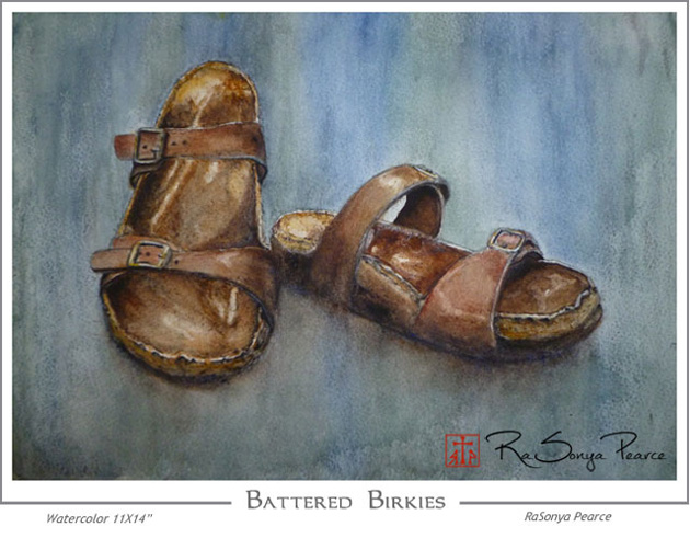 Watercolor of Birkies by RaSonya Pearce