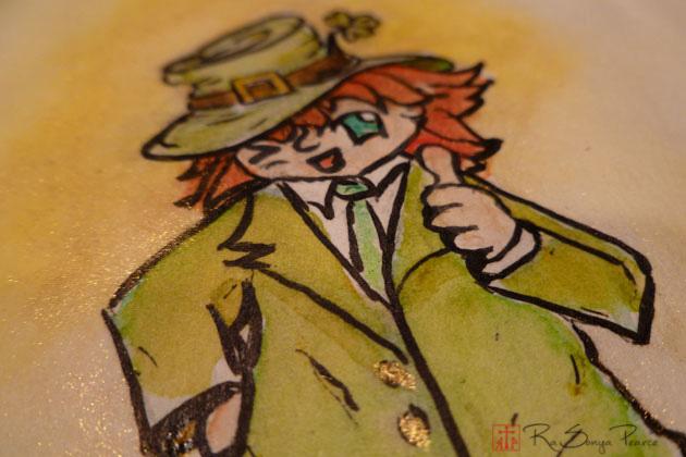 St. Pat's Day Chibi Leprechaun-- RaSonya Pearce www.FaithworksArtStudio.com