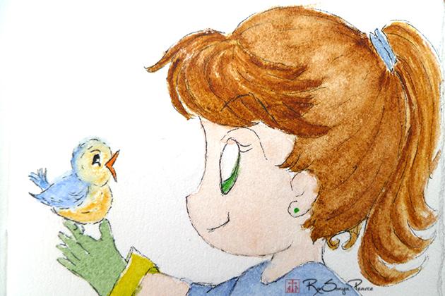 Bye Birdie-by Rasonya Pearce www.FaithworksArtStudio.com
