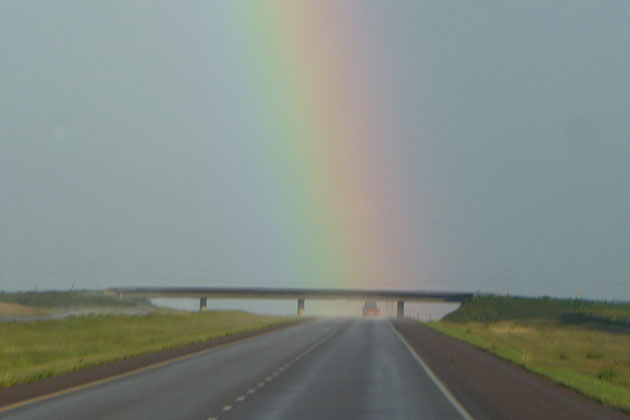 Driving off into the rainbow