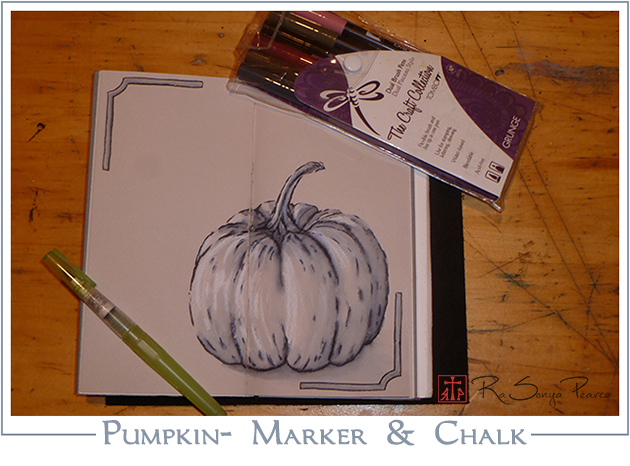 Pumpkin-Marker and Chalk www.faithworksartstudio.com
