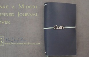 Make a Midori Inspired Journal www.FaithworksArtStudio.com