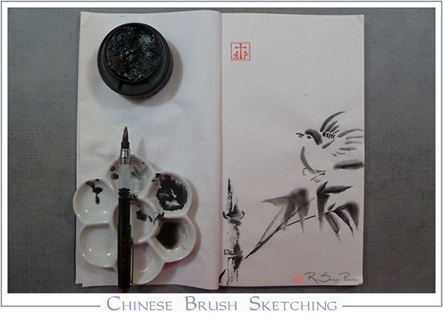 Chinese Brush Sketching--  RaSonya Pearce  www.FaithworksArtStudio.com