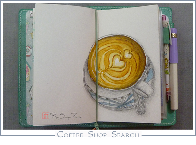 Coffee Shop Search   RaSonya Pearce  www.FaithworksArtStudio.com