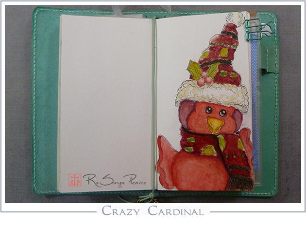 Crazy Cardinal   RaSonya Pearce  www.FaithworksArtStudio.com