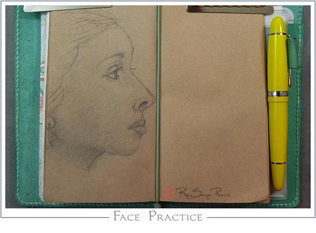 Face Practice    RaSonya Pearce  www.FaithworksArtStudio.com