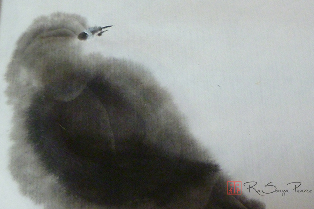 Fluffy Bird RaSonya Pearce www.FaithworksArtStudio.com