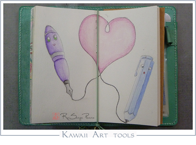 Kawaii Art Tools   RaSonya Pearce  www.FaithworksArtStudio.com