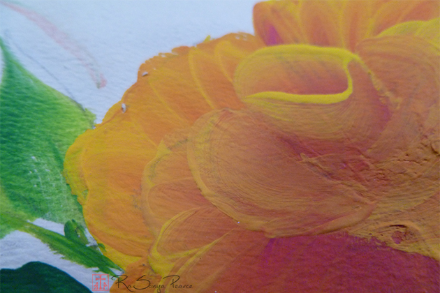 Orange Rose  RaSonya Pearce www.FaithworksArtStudio.com