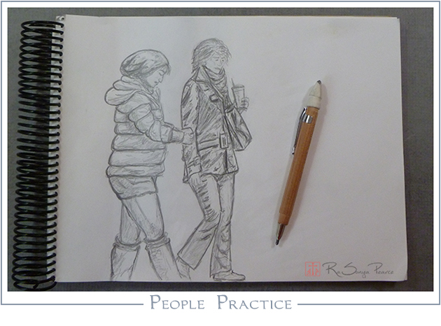 People Practice   RaSonya Pearce  www.FaithworksArtStudio.com