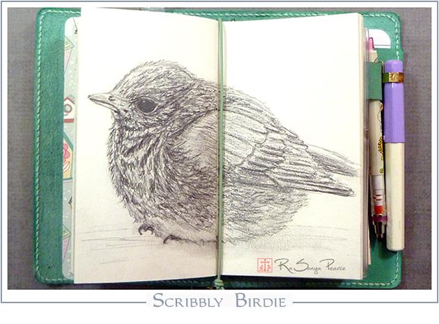 Scribbly Birdie  RaSonya Pearce  www.FaithworksArtStudio.com