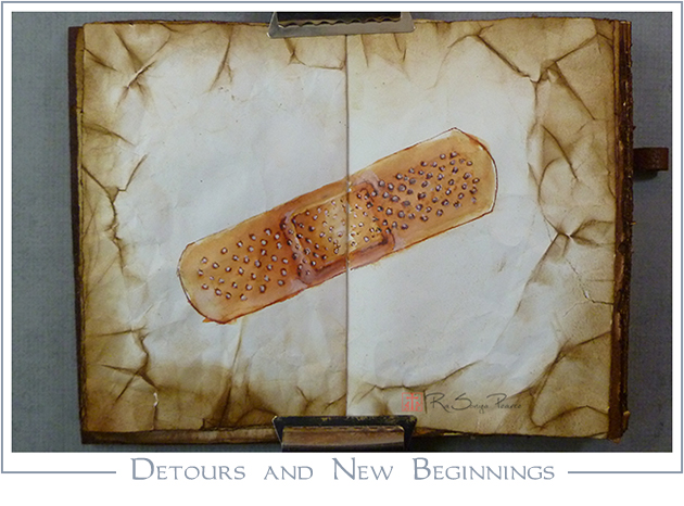 Detours and New Beginnings, Art 365-16-57, RaSonya Pearce, www.FaithworksArtStudio.com