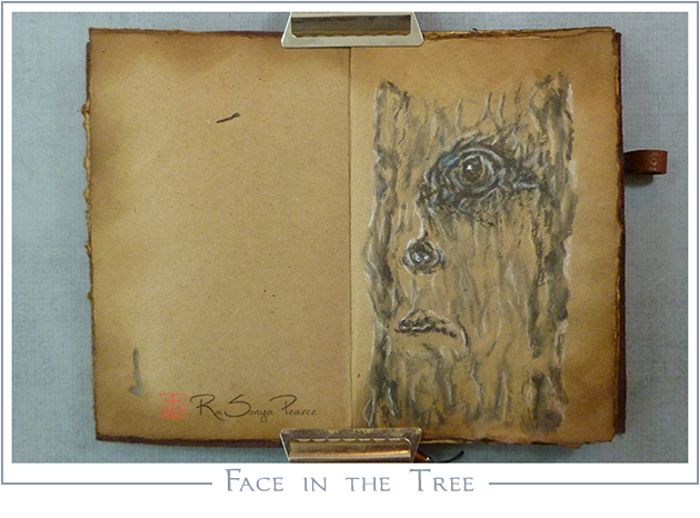 Face in the Tree, RaSonya Pearce, www.FaithworksArtStudio.com