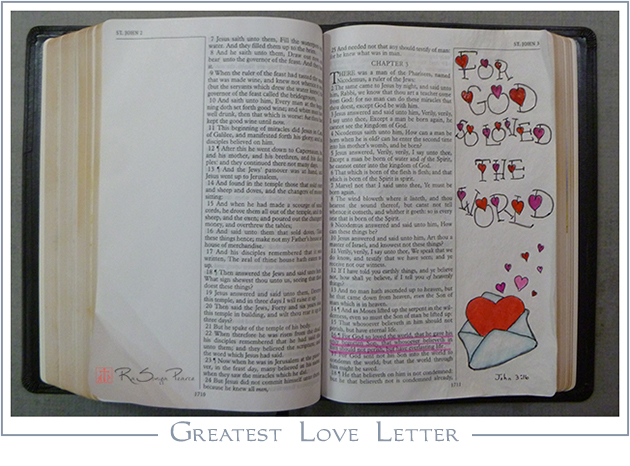 Greatest Love Letter RaSonya Pearce www.FaithworksArtStudio.com