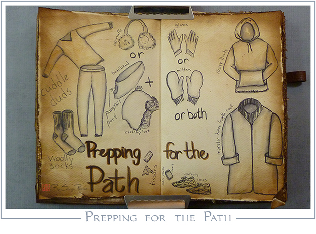 Prepping for the Path, RaSonya Pearce, www.FaithworksArtStudio.com