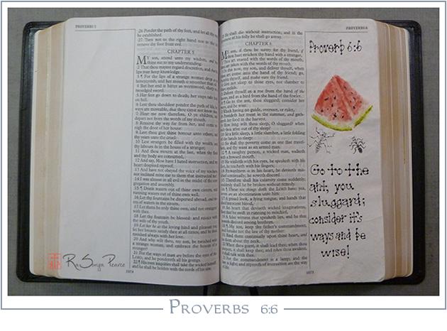 Proverbs 6:6 RaSonya Pearce www.FaithworksArtStudio.com