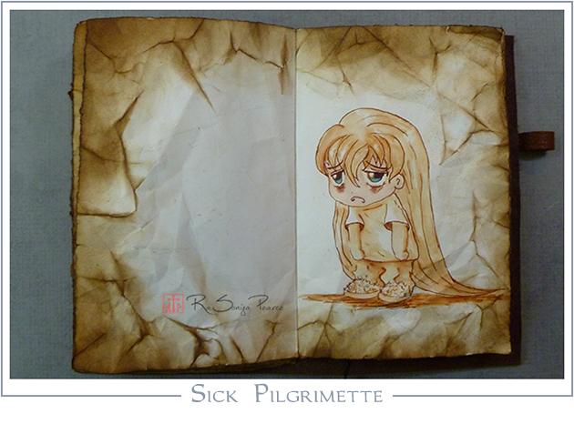 Sick Pilgrimette, RaSonya Pearce, www.FaithworksArtStudio.com