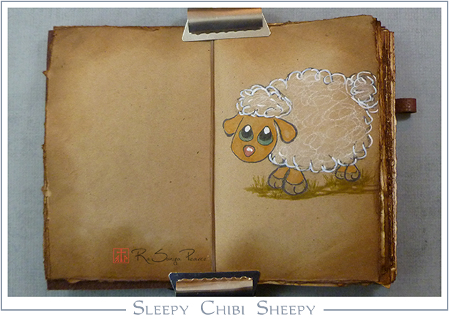 Sleepy Chibi Sheepy, Art 365-16-59, RaSonya Pearce, www.FaithworksArtStudio.com