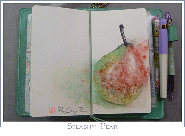 Splashy Pear RaSonya Pearce www.FaithworksArtStudio.com