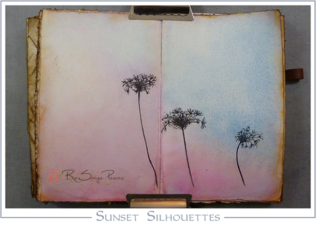 Sunset Silhouette, Art 365-16-56, RaSonya Pearce, www.FaithworksArtStudio.com