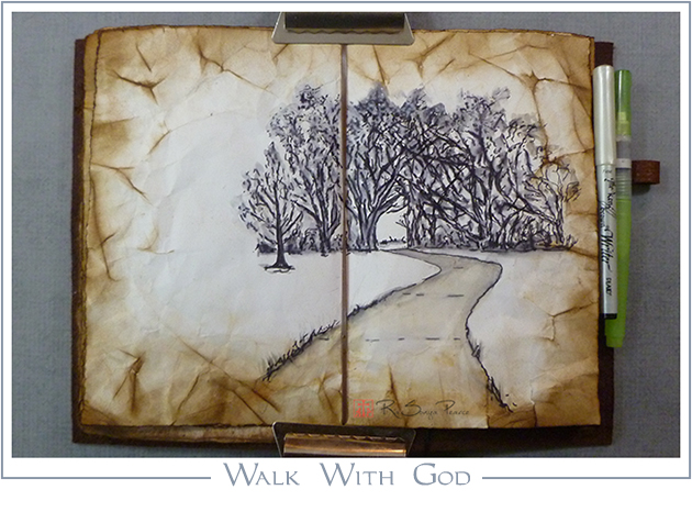 Walk With God, RaSonya Pearce, www.FaithworksArtStudio.com