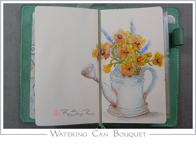 Watering Can Bouquet RaSonya Pearce www.FaithworksArtStudio.com
