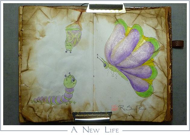 A New Life, Art 365-16-82, RaSonya Pearce, www.FaithworksArtStudio.com