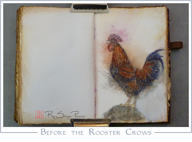 Before the Rooster Crows, Art 365-16-84, RaSonya Pearce, www.FaithworksArtStudio.com