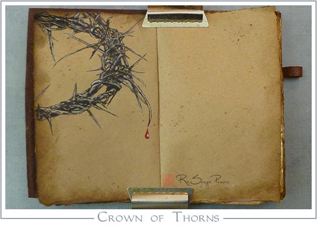 Crown of Thorns, Art 365-16-83, RaSonya Pearce, www.FaithworksArtStudio.com