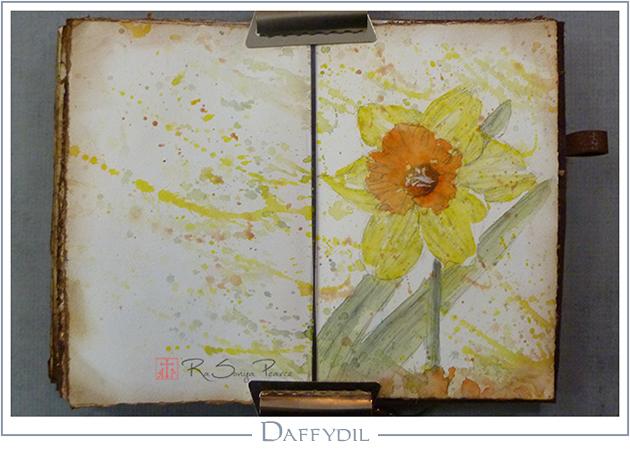 Daffydil, Art 365-16-68, RaSonya Pearce, www.FaithworksArtStudio.com