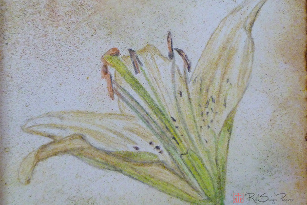Easter Lily, Art 365-16-75, RaSonya Pearce, www.FaithworksArtStudio.com