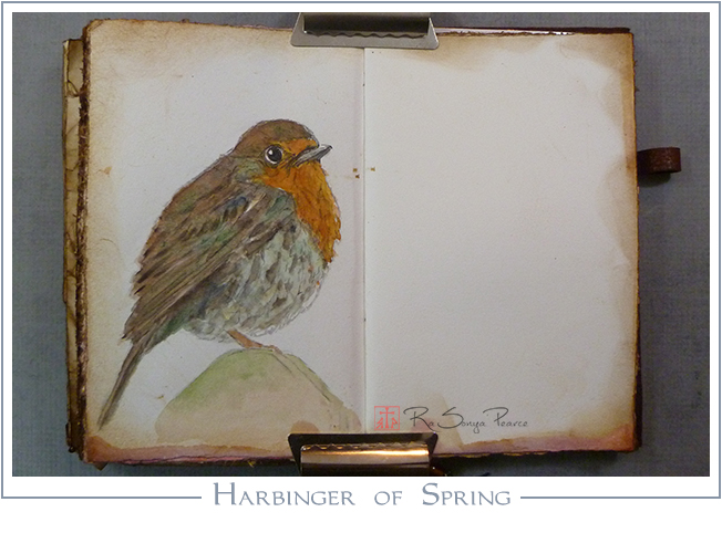 Harbinger of Spring, Art 365-16-63, RaSonya Pearce, www.FaithworksArtStudio.com