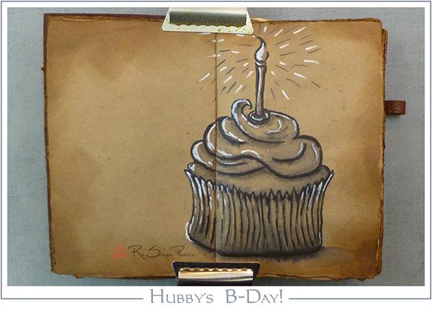 Hubby's B-Day, Art 365-16-79, RaSonya Pearce, www.FaithworksArtStudio.com