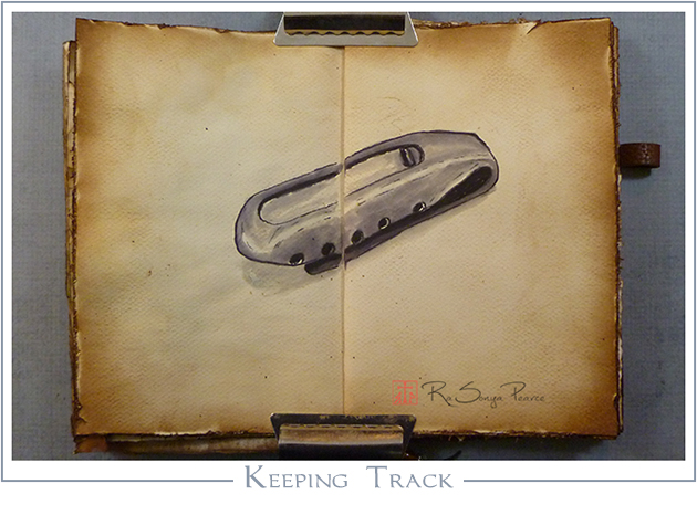 Keeping Track, Art 365-16-61, RaSonya Pearce, www.FaithworksArtStudio.com