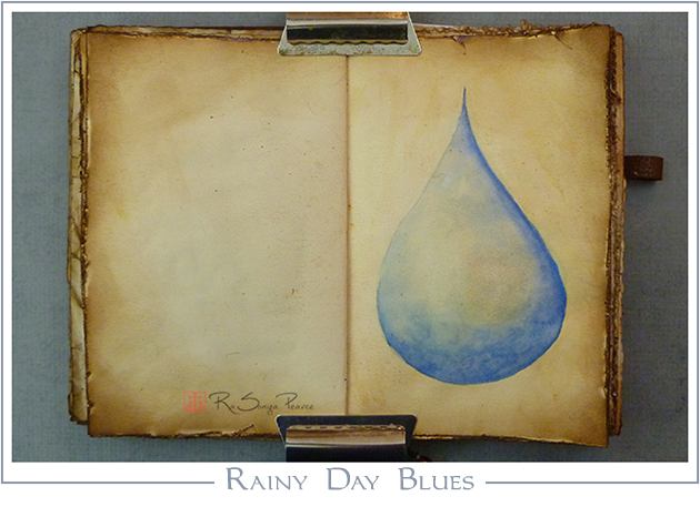 Rainy Day Blues, Art 365-16-72, RaSonya Pearce, www.FaithworksArtStudio.com
