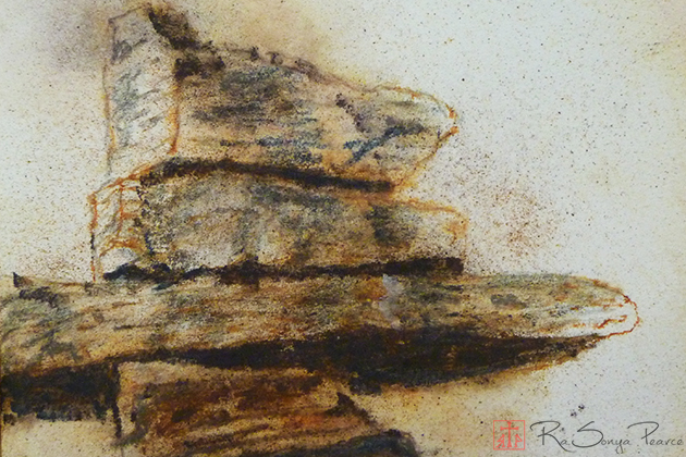 Rocks along the Way, Art 365-16-62, RaSonya Pearce, www.FaithworksArtStudio.com