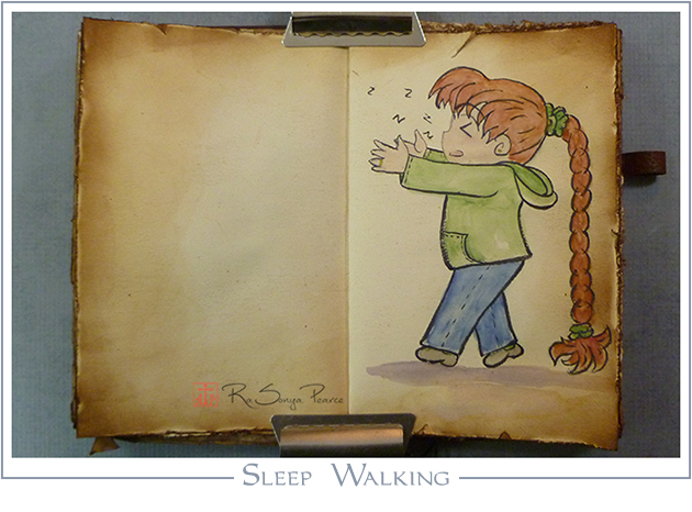 Sleep Walking, Art 365-16-64, RaSonya Pearce, www.FaithworksArtStudio.com