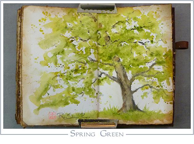 Spring Green, Art 365-16-71, RaSonya Pearce, www.FaithworksArtStudio.com