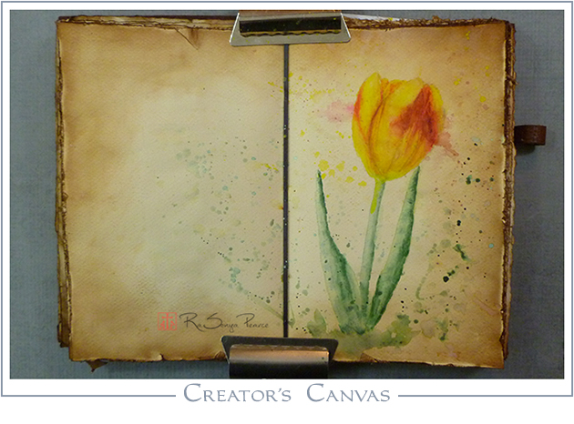 The Creator's Canvas, Art 365-16-70, RaSonya Pearce, www.FaithworksArtStudio.com