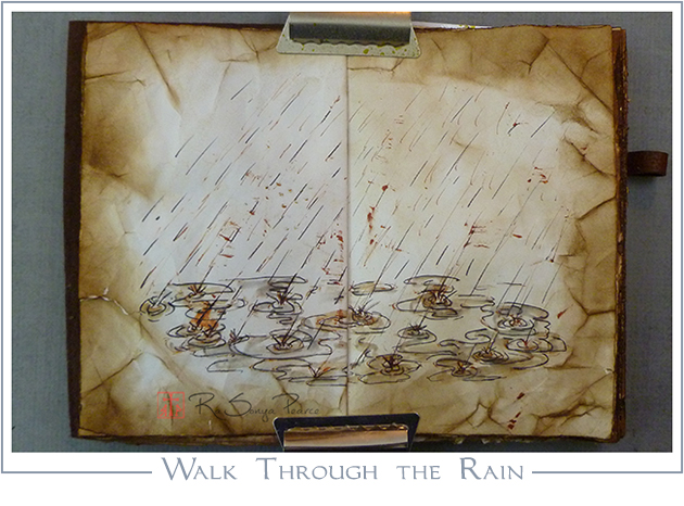 Walk Through the Rain, Art 365-16-76, RaSonya Pearce, www.FaithworksArtStudio.com