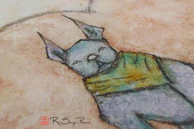 Batsy, Art 365-16-119, RaSonya Pearce, www.FaithworksArtStudio.c