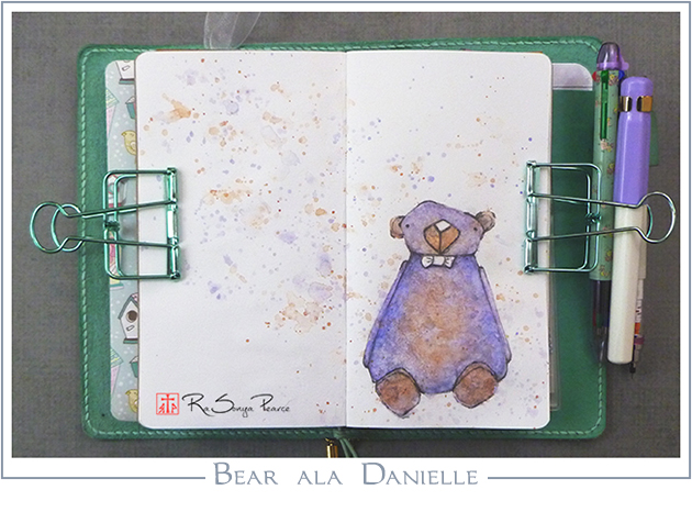 Bear ala Danielle, Art 365-16-110, RaSonya Pearce, www.FaithworksArtStudio.com