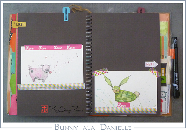 Bunny ala Danielle, Art 365-16-114, RaSonya Pearce, www.FaithworksArtStudio.com