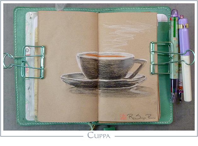 Cuppa, Art 365-16-98, RaSonya Pearce, www.FaithworksArtStudio.com