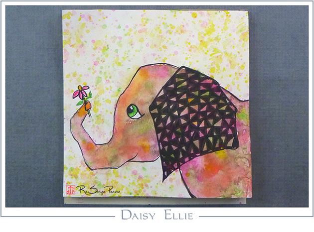 Daisy Ellie, Art 365-16-120, RaSonya Pearce, www.FaithworksArtStudio.com