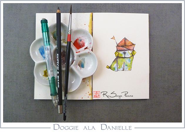 Doggie ala Danielle, Art 365-16-109, RaSonya Pearce, www.FaithworksArtStudio.com