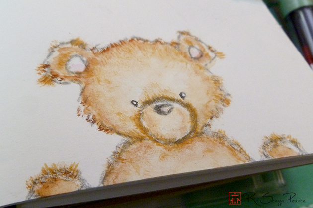 Hi, Bear!, Art 365-16-103, RaSonya Pearce, www.FaithworksArtStudio.com
