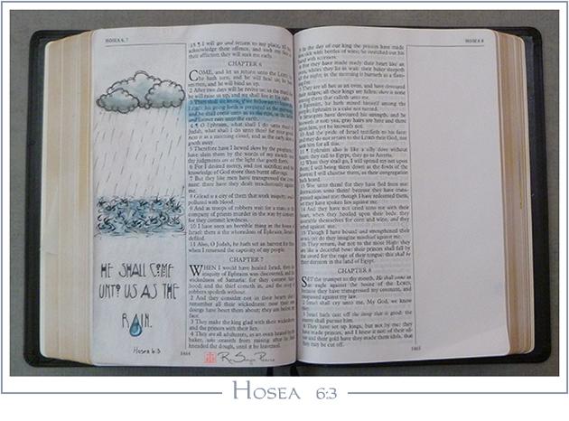 Hosea 6:3, Art 365-16-94, RaSonya Pearce, www.FaithworksArtStudio.com