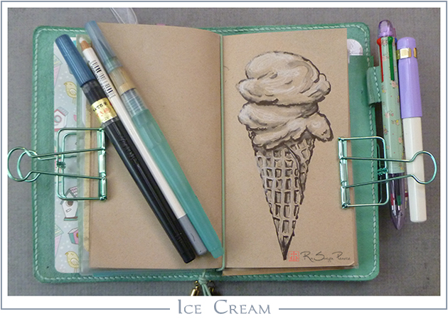 Ice Cream, Art 365-16-96, RaSonya Pearce, www.FaithworksArtStudio.com